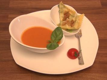 """Italien meets Schwaben"" - Tomatensüpple mit Herrgottsscheißerle (Geschwister Hofmann) - Rezept"