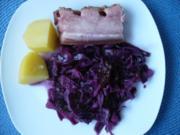 Geschmorter Rotkohl mit Speck - Rezept