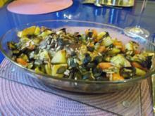 Geflügel: Hähnchenschenkel mit Ofengemüse - Rezept