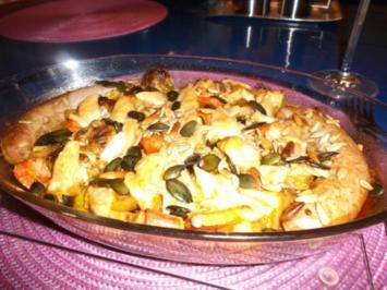 Fleisch: Bratwürstchen mit Ofengemüse - Rezept