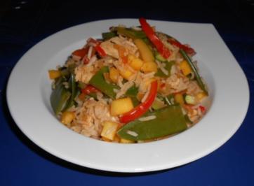 Mango-Puten-Reis-Pfanne - Rezept