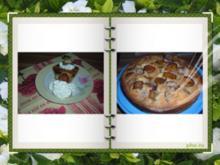 Kuchen : Zwetschgen mit Marzipan - Nougat Baumstämmen - Rezept