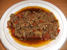 Hauptgericht: Paprika mit Hackfleisch gefüllt - Rezept
