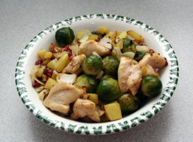 Kartoffel-Rosenkohl-Pfanne - Rezept