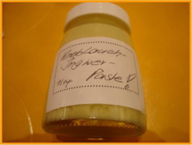 Knoblauch-Ingwer-Paste - Rezept