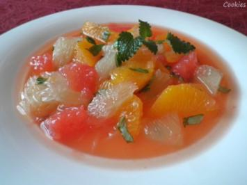 Zitrusfrüchte - Salat - Rezept