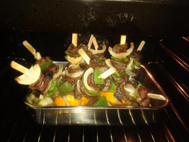 Hirschfilet-Spießchen mit Kartoffelchips - Rezept - Bild Nr. 10