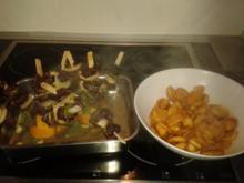 Hirschfilet-Spießchen mit Kartoffelchips - Rezept