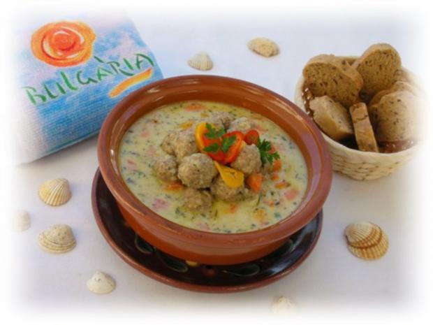 Supa Toptscheta-bulgarische Suppe mit Hackfleisch-Bällchen - Rezept