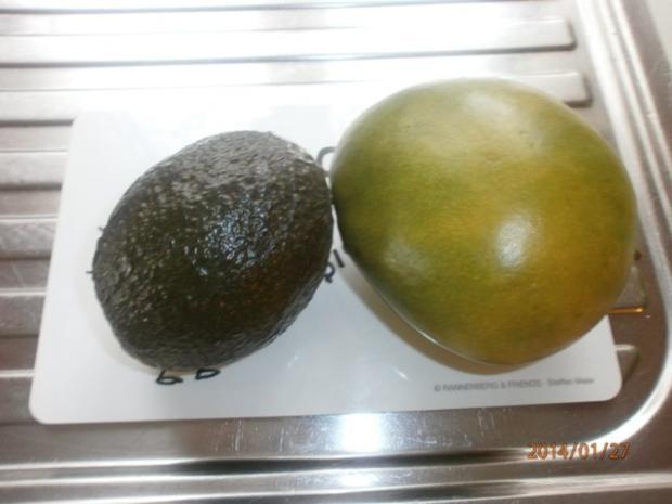 Avocado-Mango-Salsa mit Garnelen und Hühnerbrustspießen - Rezept - Bild Nr. 2