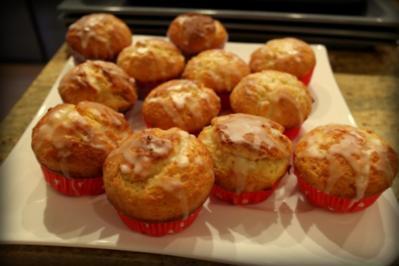 Zitronen-Muffins mit Lemon Curd - Rezept