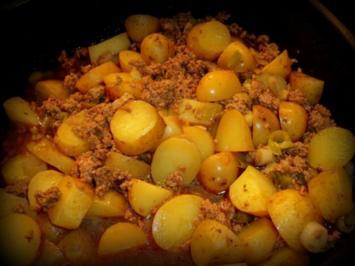 Curry-Kartoffel-Hack-Pfanne - Rezept