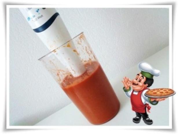 Selbstgemachte sämige Pizza-Tomatensauce - Rezept