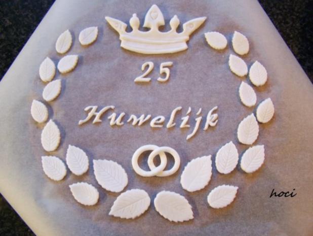 25 HUWELIJK - eine einfache Hochzeitstorte - Rezept - Bild Nr. 7