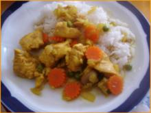 Hähnchenbrustfilet-Curry mit Reis nach Papa - Rezept