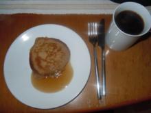 Zimt- Pfannkuchen mit Ahornsirup - Rezept