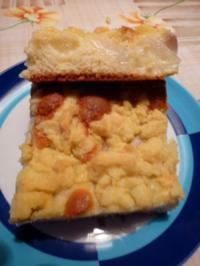 Birnen-Streusel-Puddingkuchen - Rezept
