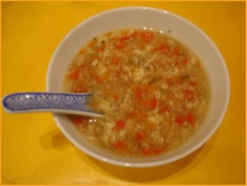 Gemüsesuppe süß-sauer nach Papa - Rezept