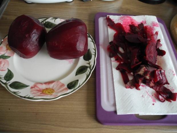 Vegan : Frischen Rote-Betesalat - Kartoffelsalat - Karottensalat - Rezept - Bild Nr. 3