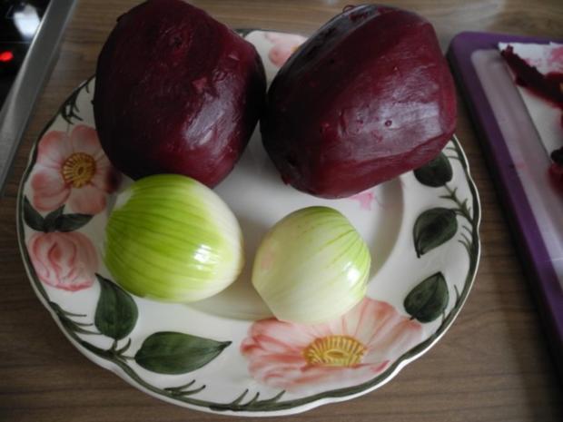 Vegan : Frischen Rote-Betesalat - Kartoffelsalat - Karottensalat - Rezept - Bild Nr. 4