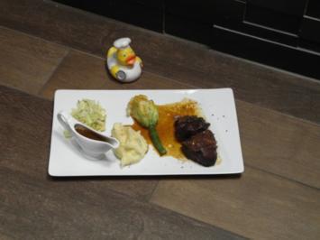 Fleisch mit Kartoffeln und Gemüse - Rezept