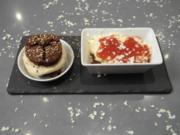 Lasagne mit Whoopie Goldberg (Mousse aus weißer Schokolade und Pumpernickelmousse) - Rezept