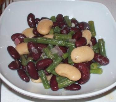 Bohnensalat von dreierlei Sorten - Rezept
