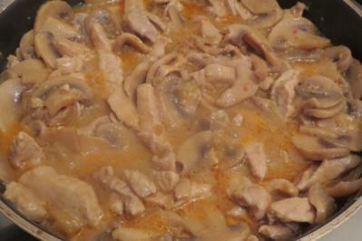 Rezept: Kochen: Geschnetzeltes mit Champignons, asiatisch angehaucht
