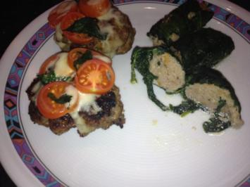 Fleischküchla Tomate Mozzarella - Rezept