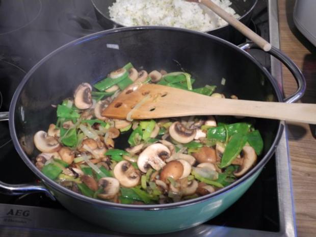 Vegan : Eine bunte und gesunde Gemüse - Reis - Pfanne - Rezept - Bild Nr. 9