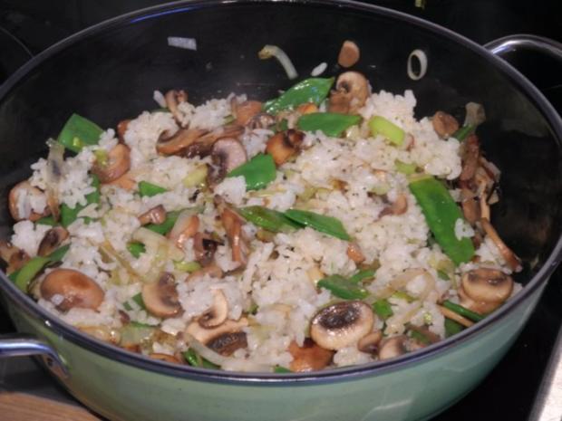 Vegan : Eine bunte und gesunde Gemüse - Reis - Pfanne - Rezept - Bild Nr. 10