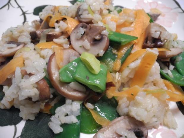 Vegan : Eine bunte und gesunde Gemüse - Reis - Pfanne - Rezept - Bild Nr. 2