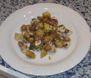Warmer Kartoffel-Pilz-Salat - Rezept