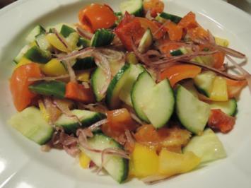 Salat : ....schön bunt ... - Rezept