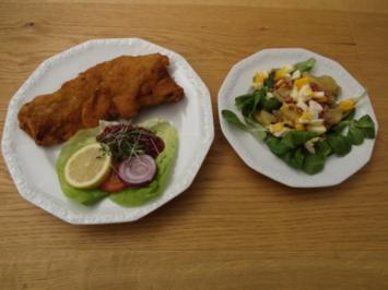Wiener Schnitzel mit Vogerlsalat - Rezept