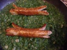 Spinat mit Wurst - Kraken - Rezept