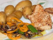 Putenmedaillons mit Rosmarin Kartoffeln und Grillgemüse - Rezept