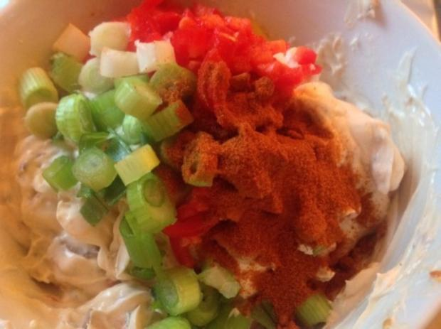 Frischkäse - Dip mit Gemüse - Rezept - Bild Nr. 6