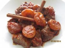 Rind -Aprikosen -Curry - Rezept