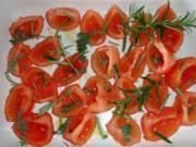 Gebackene Tomaten mit Kräutern - Rezept