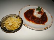 Gemüsegulasch, Fleisch war vom zarten Ochsen - Rezept