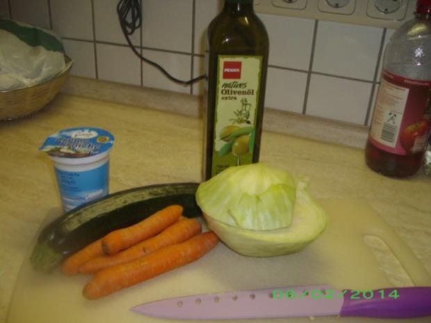 Weißkohlauflauf mit Karotten und Zucchini - Rezept