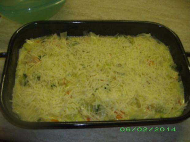 Weißkohlauflauf mit Karotten und Zucchini - Rezept - Bild Nr. 3