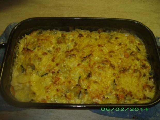 Weißkohlauflauf mit Karotten und Zucchini - Rezept - Bild Nr. 4