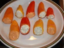 Antipasti - Paprika mit Frischkäse gefüllt - Rezept