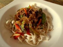 Vegetarische Asia-Hack-Pfanne - Rezept