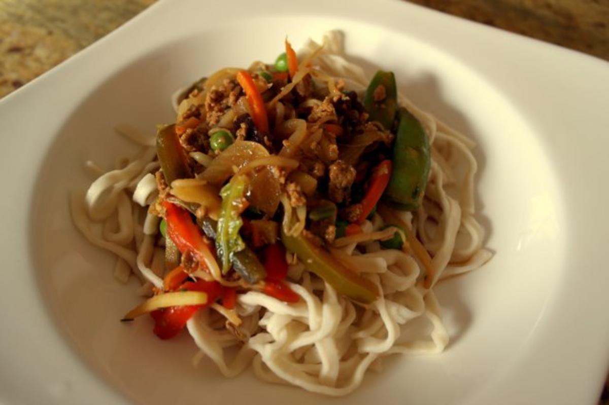 Vegetarische Asia-Hack-Pfanne - Rezept Von Einsendungen Sri_Devi