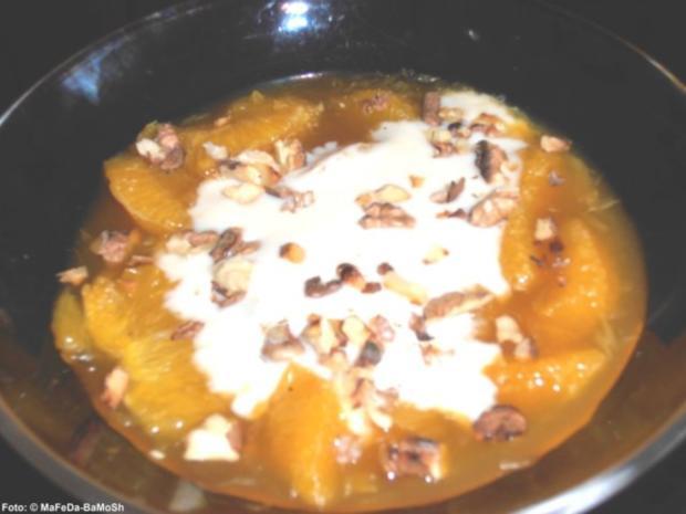 Orangensalat mit Honig-Joghurt - Rezept