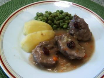 Rezept: Zunge in Rotwein -Cranberriesoße