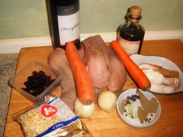 Zunge in Rotwein -Cranberriesoße - Rezept - Bild Nr. 2